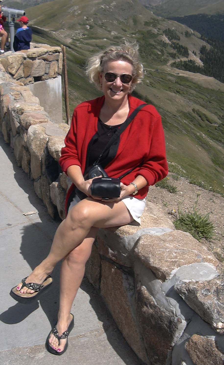 Leslie near top of Trail Ridge