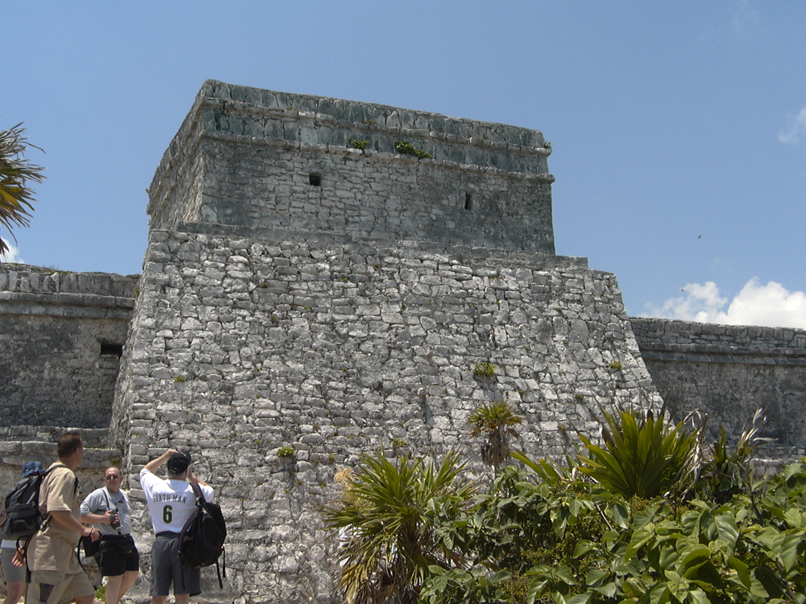 Back of El Castillo that Tori & Reid climbed down